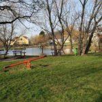 Oprava a doplnění herních prvků u rybníčku v Miškovicích